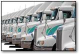 truck fleet on lot